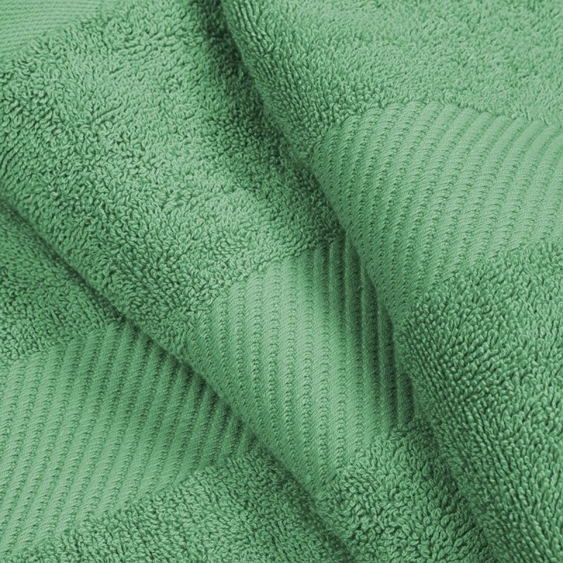 Sea Green Egyptian Cotton Right Hash Dobby Border Towel Set