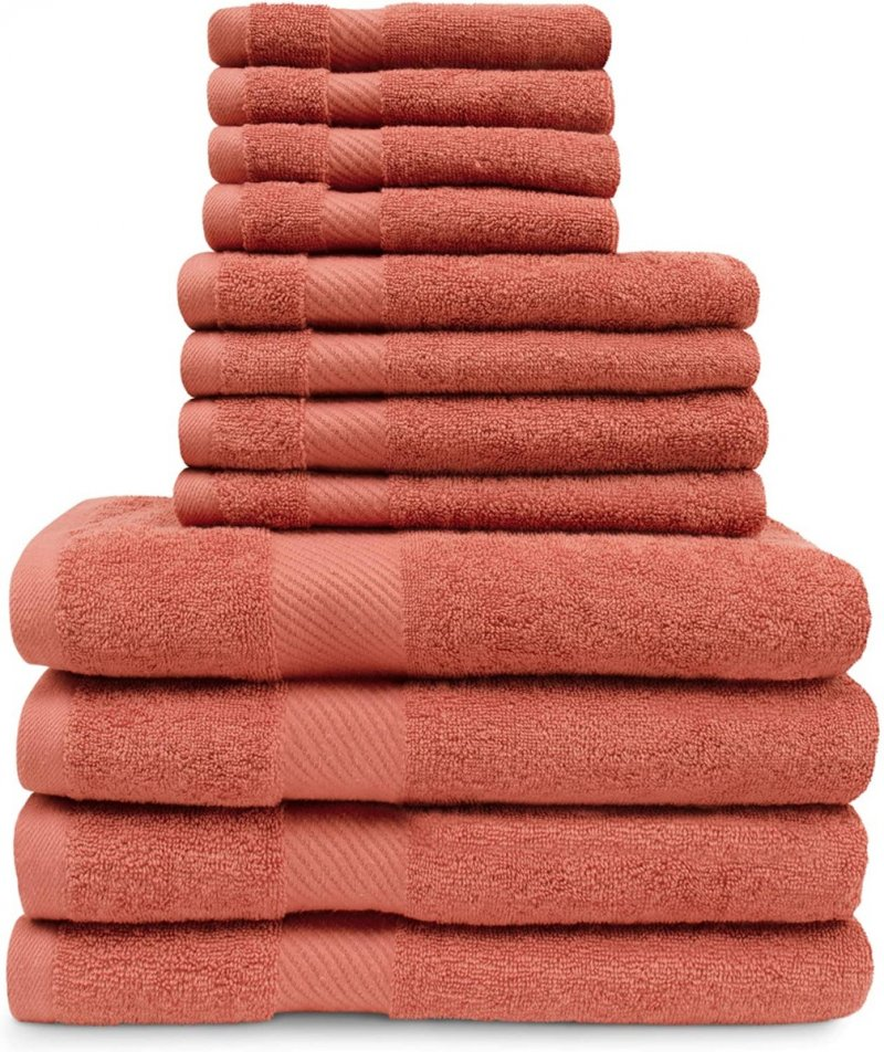 Image 19 of 12-pc. Superior Egyptian Cotton Towel Set 4 Bath, 4 Hand, 4 Face Towel Set
