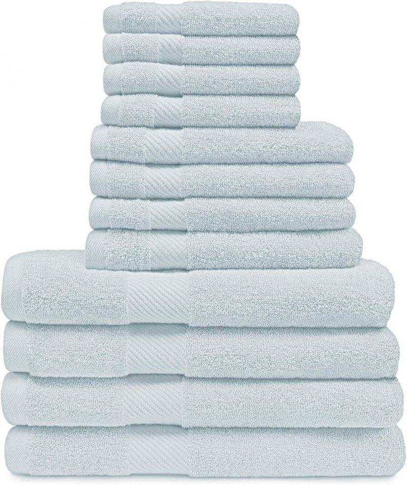 Image 21 of 12-pc. Superior Egyptian Cotton Towel Set 4 Bath, 4 Hand, 4 Face Towel Set