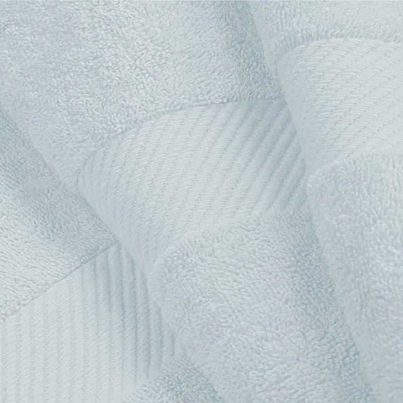 Winter Blue Egyptian Cotton Right Hash Dobby Border Towel Set