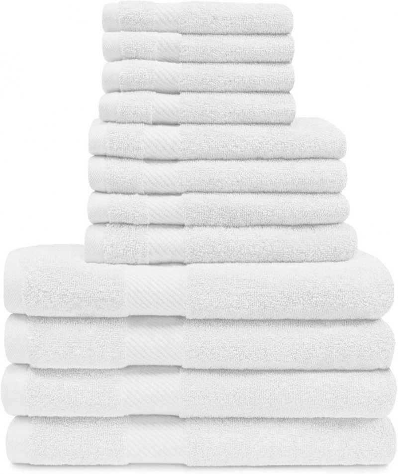 Image 23 of 12-pc. Superior Egyptian Cotton Towel Set 4 Bath, 4 Hand, 4 Face Towel Set