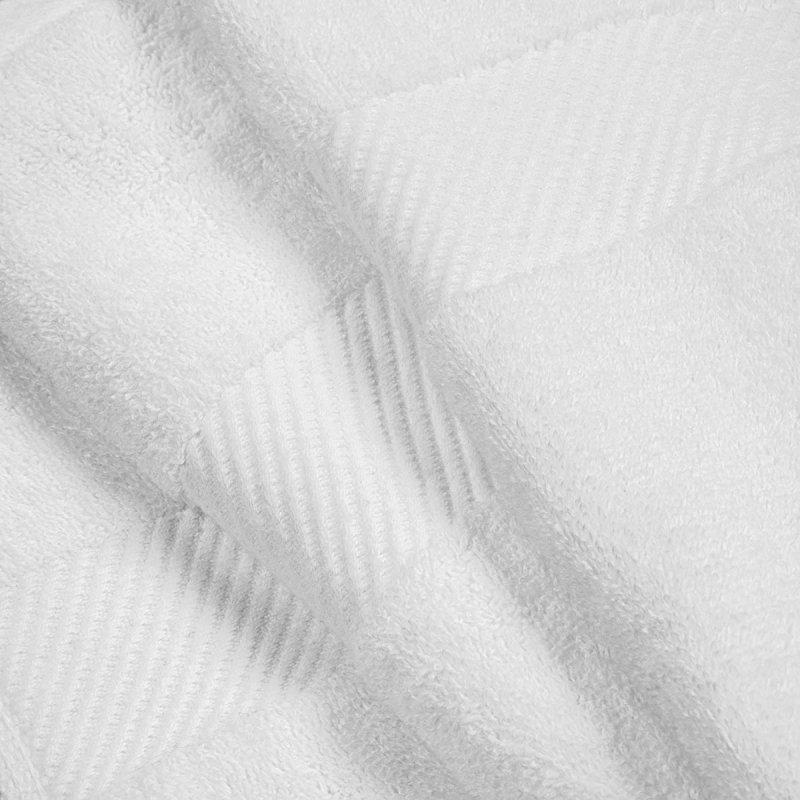 White Egyptian Cotton Right Hash Dobby Border Towel Set