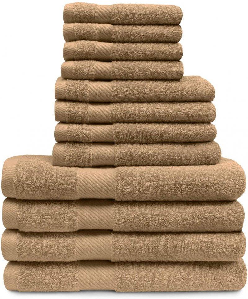 Image 11 of 12-pc. Superior Egyptian Cotton Towel Set 4 Bath, 4 Hand, 4 Face Towel Set