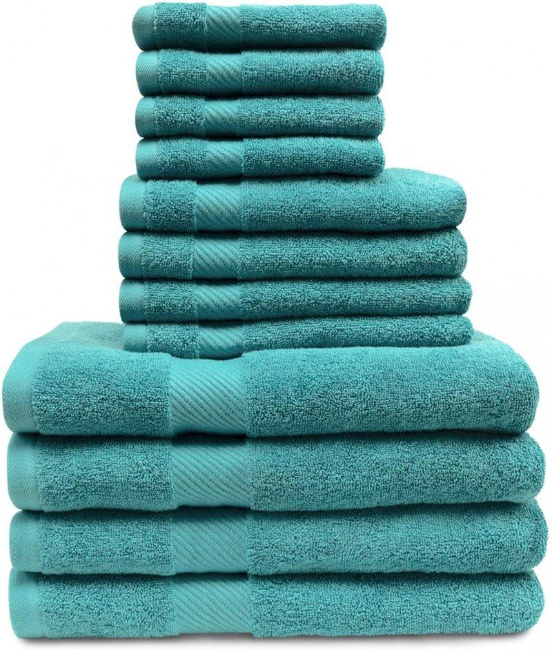Image 3 of 12-pc. Superior Egyptian Cotton Towel Set 4 Bath, 4 Hand, 4 Face Towel Set