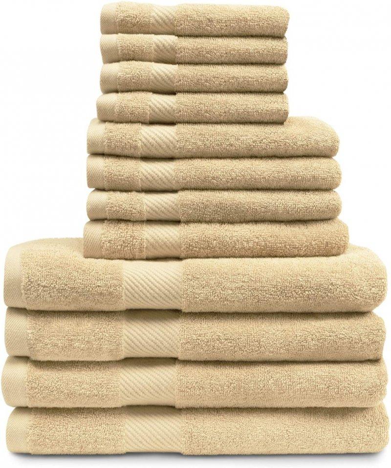 Image 5 of 12-pc. Superior Egyptian Cotton Towel Set 4 Bath, 4 Hand, 4 Face Towel Set