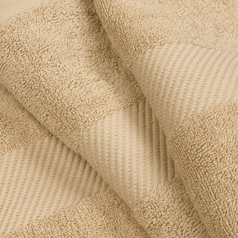 Fawn Egyptian Cotton Right Hash Dobby Border Towel Set