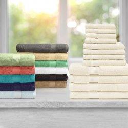 12-pc. Superior Egyptian Cotton Towel Set 4 Bath, 4 Hand, 4 Face Towel Set