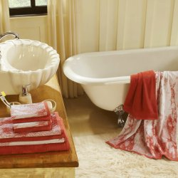 Marble Effect & Solid Cotton Absorbent Textured Ultra-Plush 10-Piece Towel Set