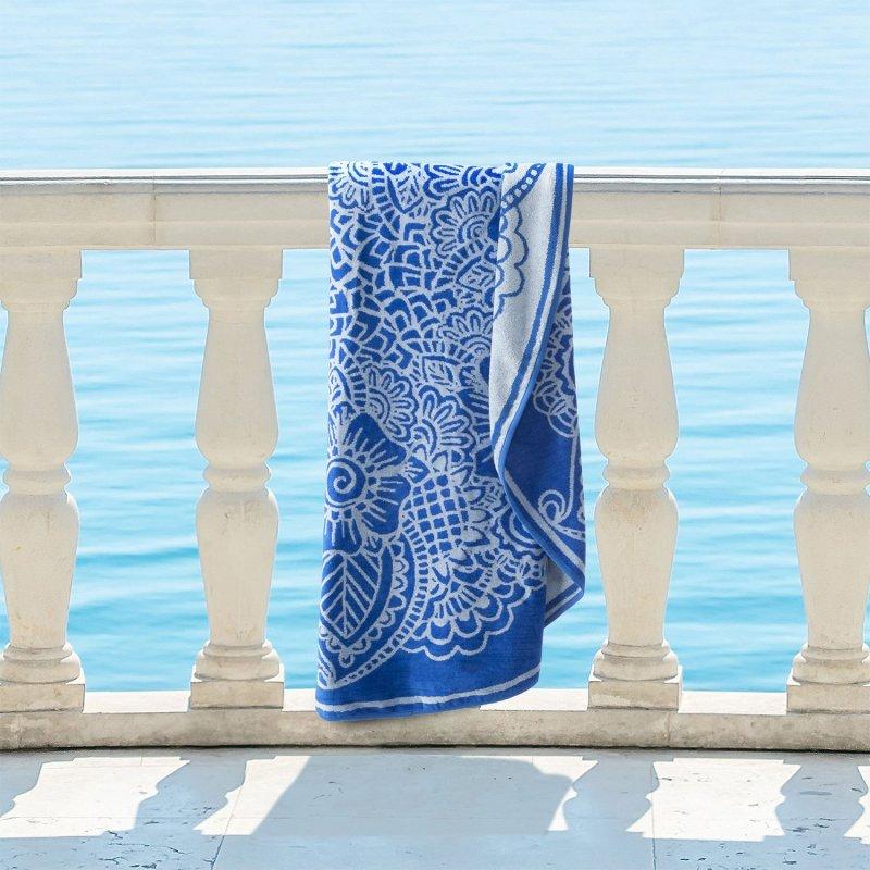 Image 0 of Indie 100% Cotton Mandala Bohemian Round Beach Towel, 60