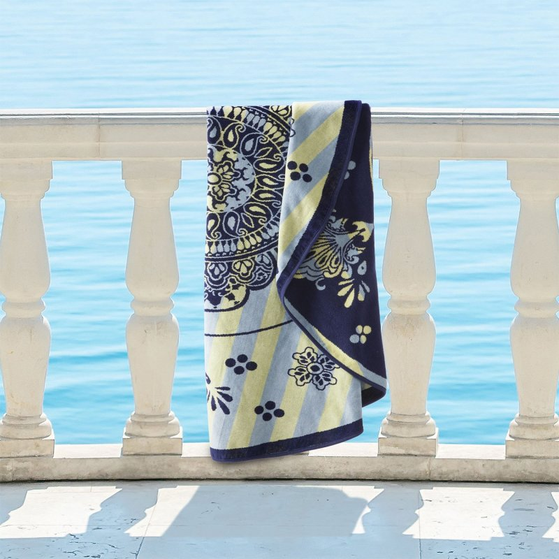 Image 0 of Rangoli 100% Cotton Medallion Mandala Round Beach Towel, 60