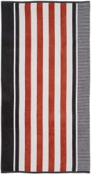 Checkered Texture Castlerock Striped 100% Cotton Over-sized Beach Towel 34x64