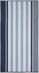 Checkered Texture Dusty Blue Striped 100% Cotton Over-sized Beach Towel 34x64