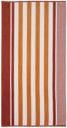 Checkered Texture Sorbet Striped 100% Cotton Over-sized Beach Towel 34x64