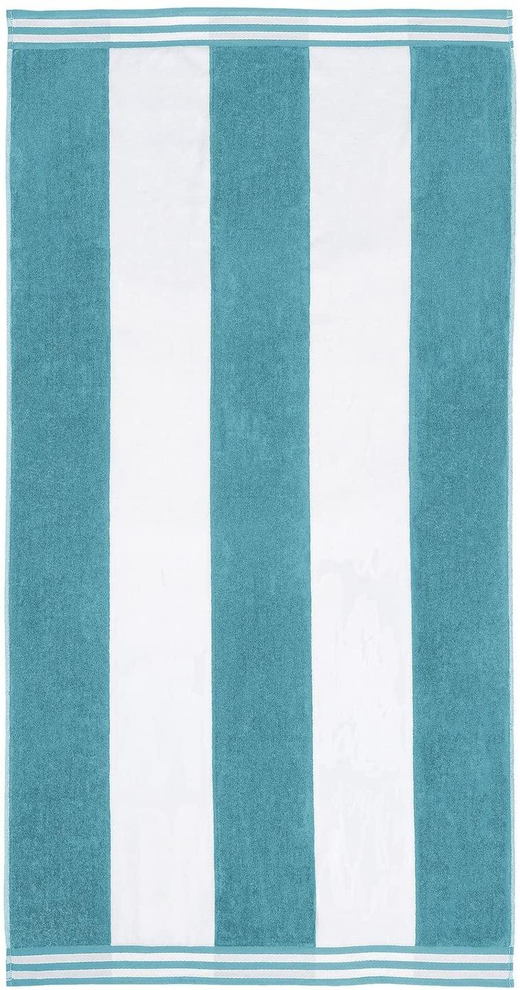 Turquoise Cabana Style Beach Towel