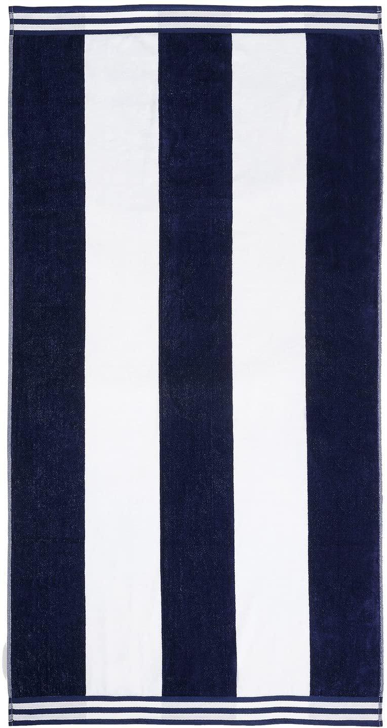 Blue Cabana Style Beach Towel