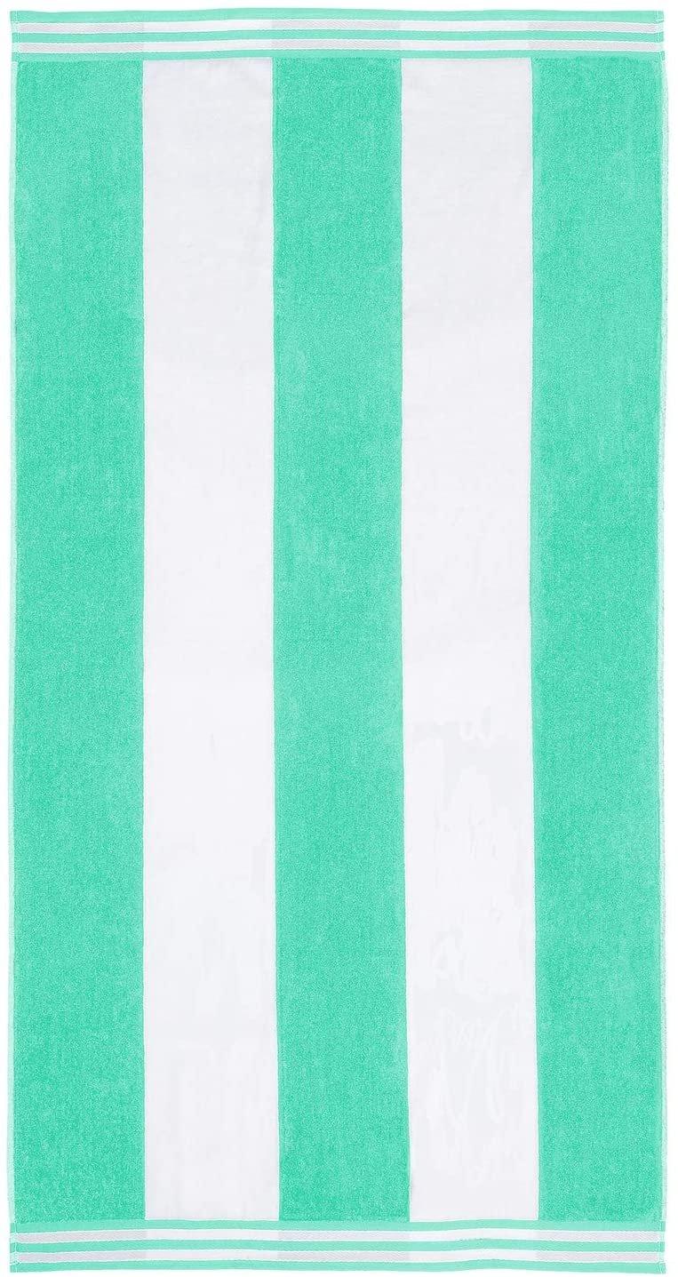 Mint Cabana Style Beach Towel