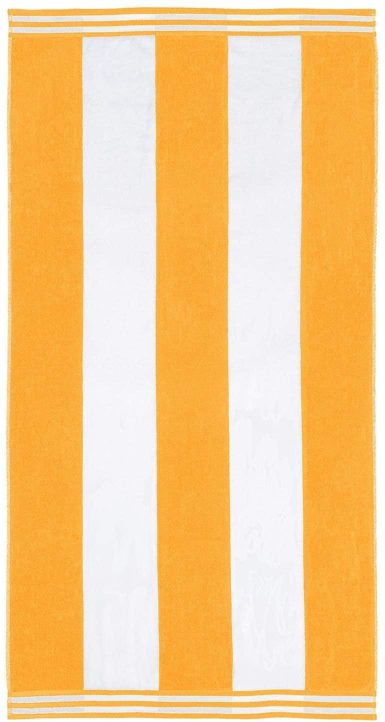 Orange Cabana Style Beach Towel