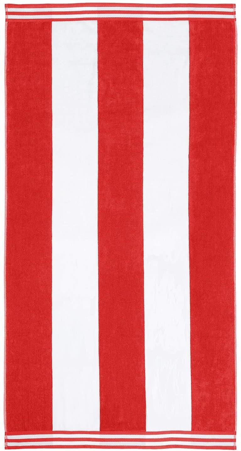 Red Cabana Style Beach Towel
