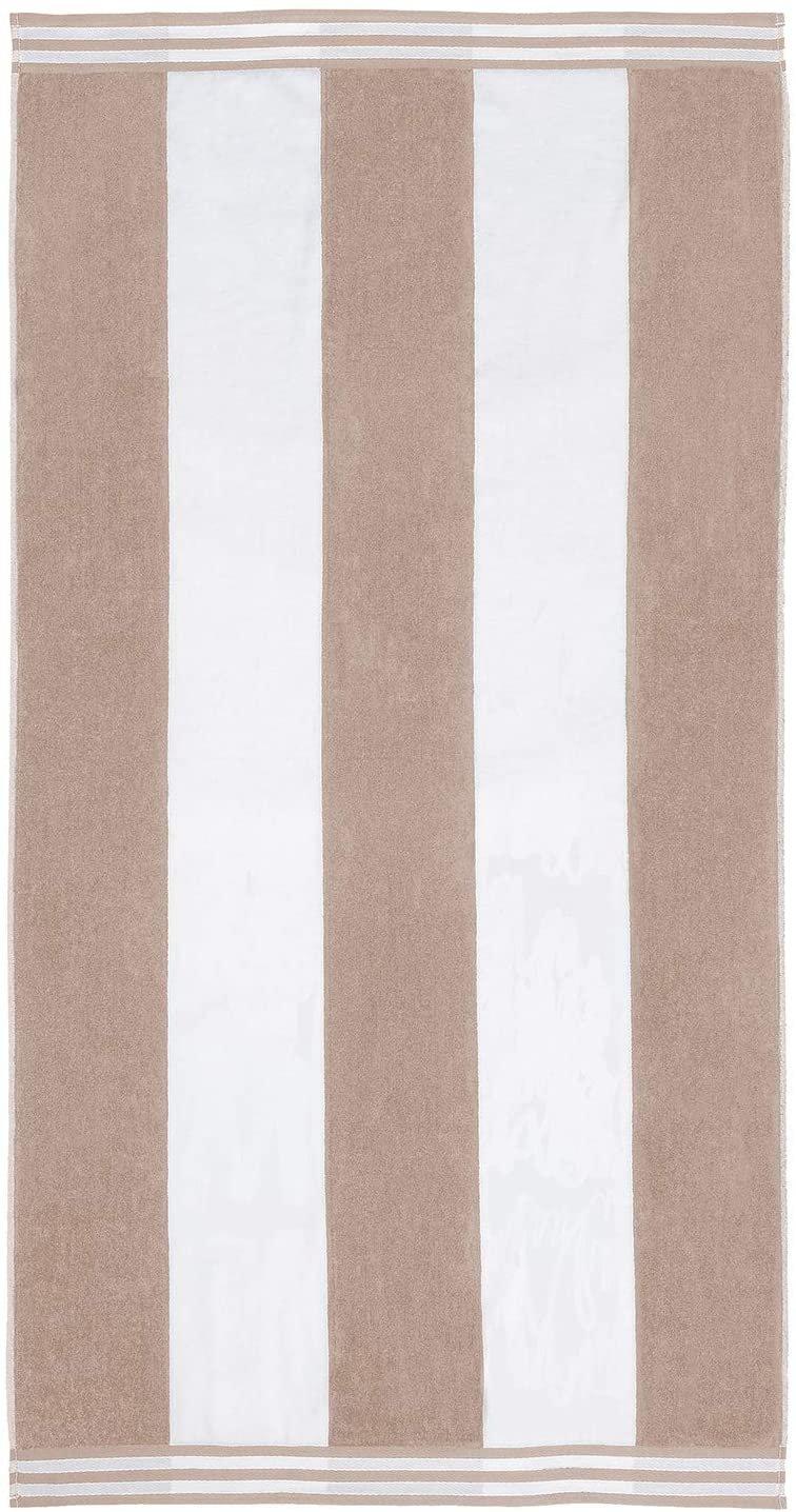 Taupe Cabana Style Beach Towel