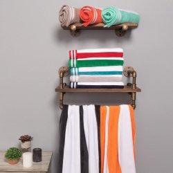 Cabana Stripes 100% Cotton Over-sized Beach Towel 34 x 64