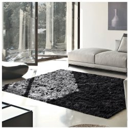 De Luxe Cocoa Retro Hand-Tufted Soft Shag Rug & Runners Multiple Sizes