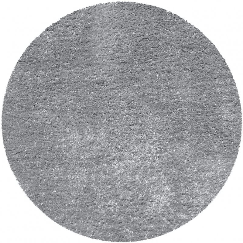Image 4 of De Luxe Gray Retro Hand-Tufted Soft Shag Rug & Runners Multiple Sizes