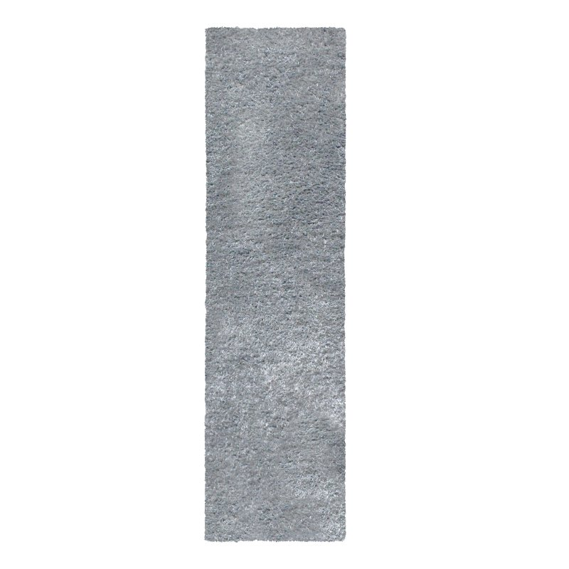 Image 5 of De Luxe Gray Retro Hand-Tufted Soft Shag Rug & Runners Multiple Sizes