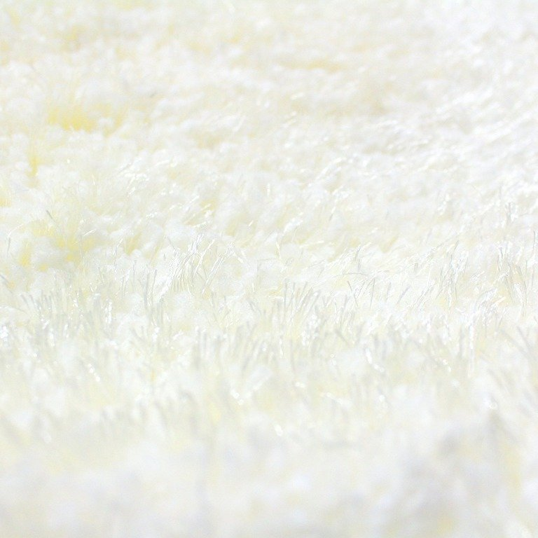 Image 6 of De Luxe Ivory Retro Hand-Tufted Soft Shag Rug & Runners Multiple Sizes