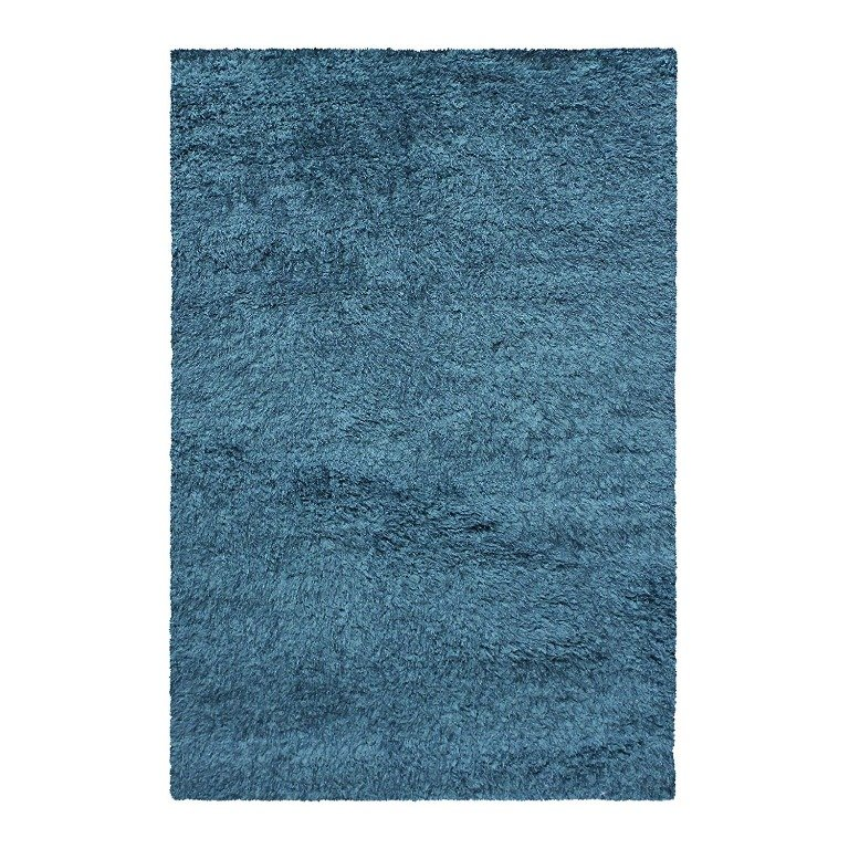 Image 3 of De Luxe Marina Blue Retro Hand-Tufted Soft Shag Rug & Runners Multiple Sizes