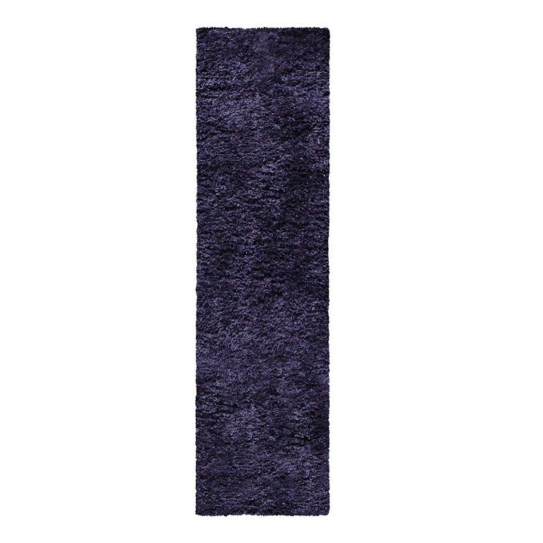 Image 5 of De Luxe Navy Blue Retro Hand-Tufted Soft Shag Rug & Runners Multiple Sizes