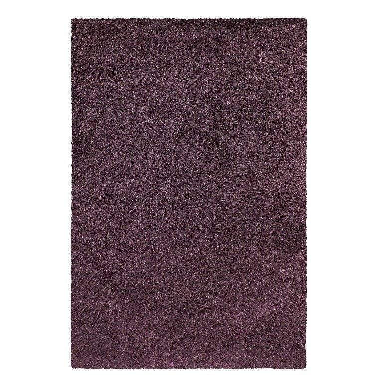 Image 3 of De Luxe Purple Retro Hand-Tufted Soft Shag Rug & Runners Multiple Sizes