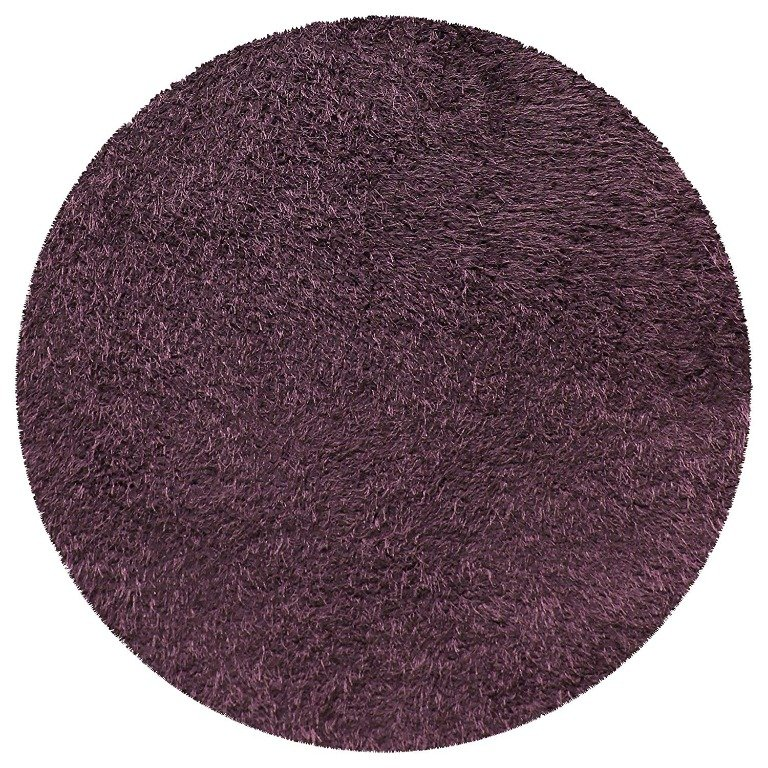 Image 4 of De Luxe Purple Retro Hand-Tufted Soft Shag Rug & Runners Multiple Sizes