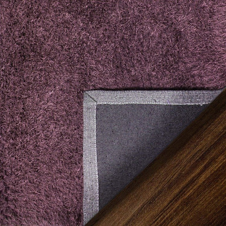 Image 7 of De Luxe Purple Retro Hand-Tufted Soft Shag Rug & Runners Multiple Sizes