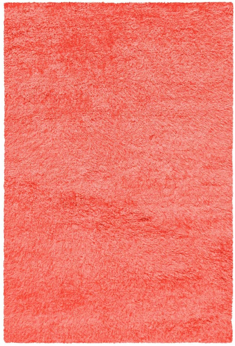 Image 3 of De Luxe Spiced Coral Retro Hand-Tufted Soft Shag Rug & Runners Multiple Sizes