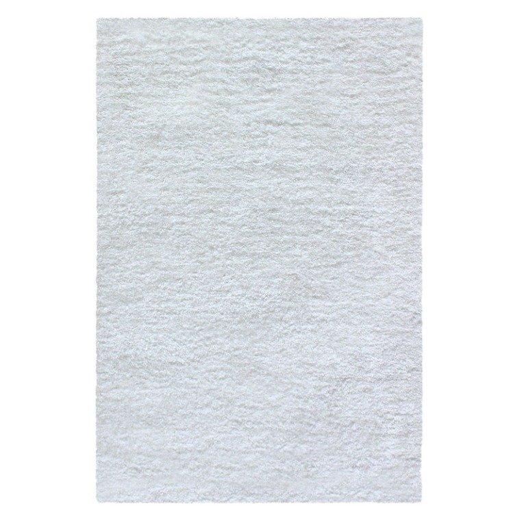 Image 3 of De Luxe White Retro Hand-Tufted Soft Shag Rug & Runners Multiple Sizes