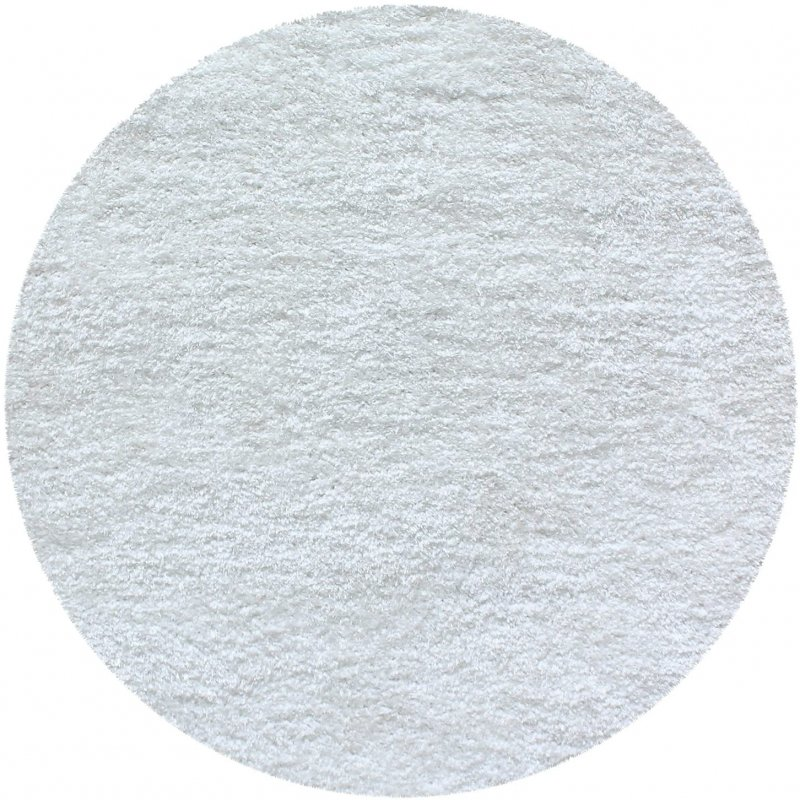 Image 4 of De Luxe White Retro Hand-Tufted Soft Shag Rug & Runners Multiple Sizes