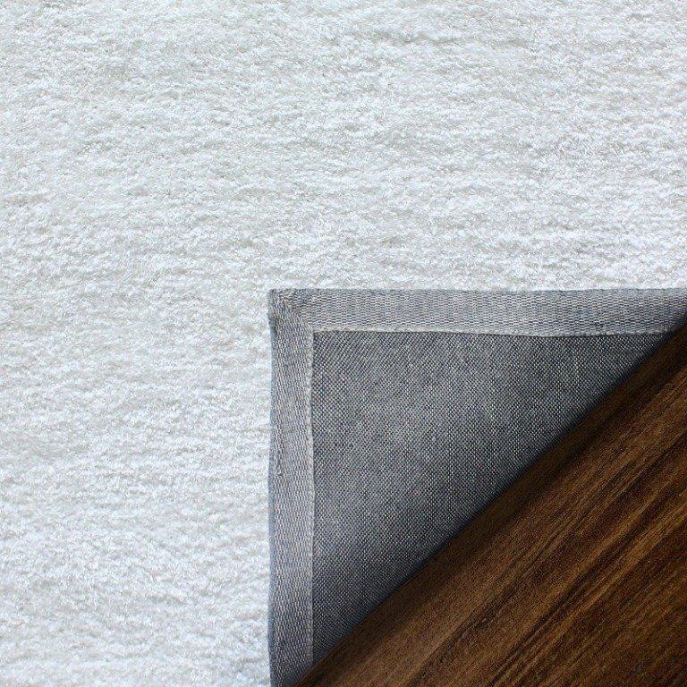Image 7 of De Luxe White Retro Hand-Tufted Soft Shag Rug & Runners Multiple Sizes