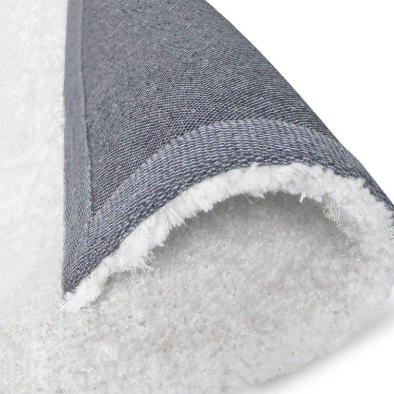 Image 8 of De Luxe White Retro Hand-Tufted Soft Shag Rug & Runners Multiple Sizes