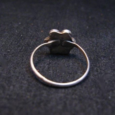 Image 2 of Classic Vintage Zuni Dishta Style Turquoise Ring sz5-1/4