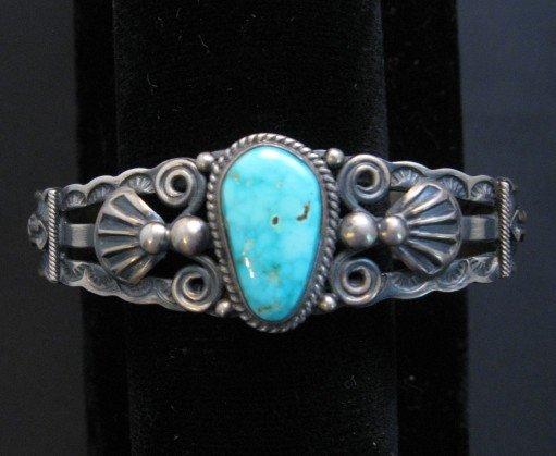 Image 5 of Darrell Cadman Navajo Turquoise Sterling Silver Bracelet