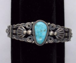 Darrell Cadman Navajo Turquoise Sterling Silver Bracelet