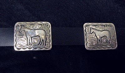 Image 5 of Eric Delgarito Navajo Sterling Silver Horse Storyteller Concho Belt