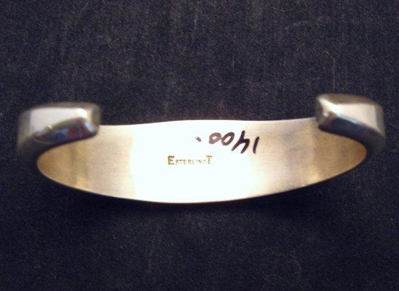 Image 4 of Ervin Tsosie Navajo Inlay Silver Bracelet