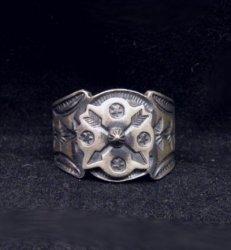 Gary Reeves Navajo Crossed Arrows Sterling Silver Ring sz9-1/2
