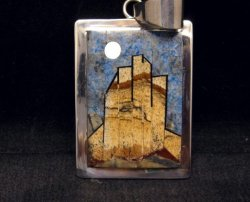 Navajo * Tommy Jackson * Monument Valley Inlay Pendant