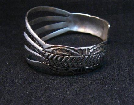 Image 1 of Navajo Silver 4-Way Split Band Cuff Bracelet, Wilbert Benally