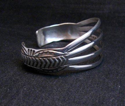 Image 2 of Navajo Silver 4-Way Split Band Cuff Bracelet, Wilbert Benally