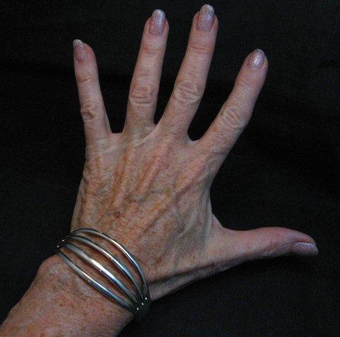 Image 3 of Navajo Silver 4-Way Split Band Cuff Bracelet, Wilbert Benally