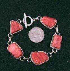 Navajo Red Spiny Oyster Link Bracelet, Selena Warner
