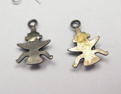 Image 2 of Vintage Fred Harvey Navajo Knifewing Earrings / Charms